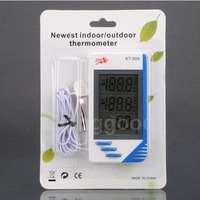 Прибор для измерения температуры 2.8 LCD Thermometer Hygrometer Temperature Humidity Tester Clock Meter 3 In 1 Digital Indoor Outdoor In/Out Meter