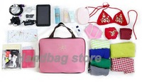 Сумка для путешествий New Women Multi-function Travel Handbag Leisure Bag Large liner Organizer Tidy Bag Pouch 9198