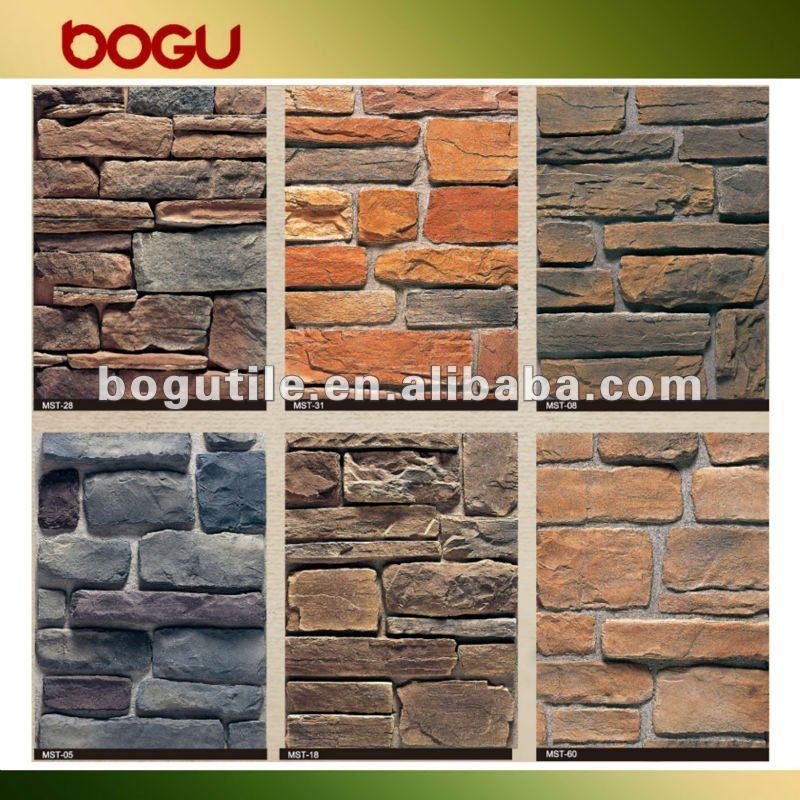 Pared de piedra fachada azulejos cer mica identificaci n - Piedras decorativas para pared ...