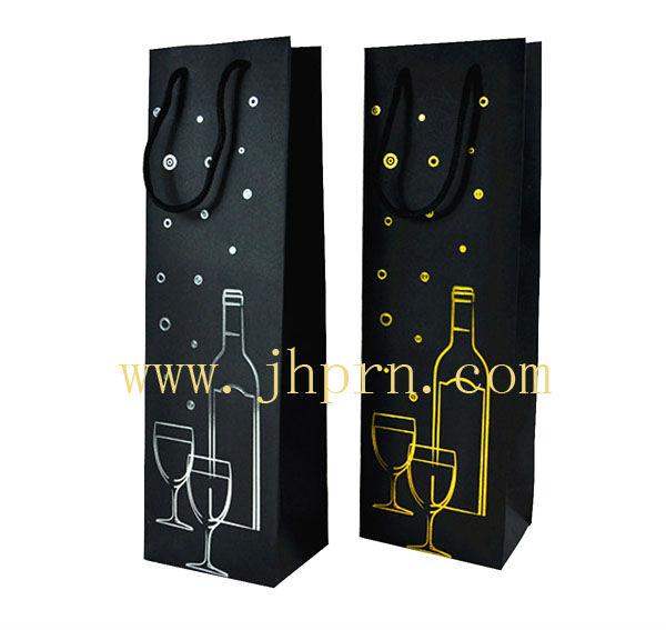 luxury wine paper gift bags for single wine bottle