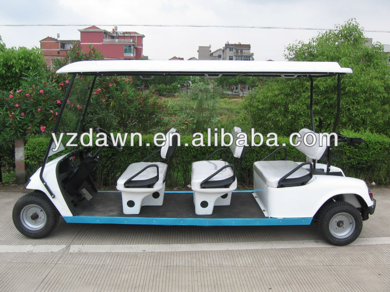 80km long range 6 seats electric utility golf cart club buggy for sale