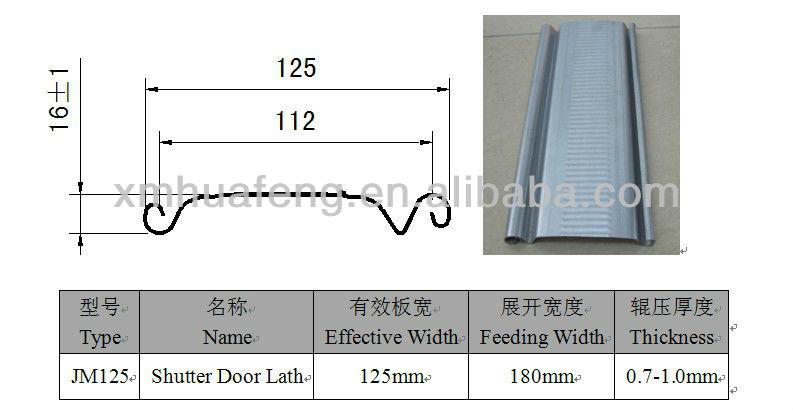 JM125 Shutter Door Lath Profile