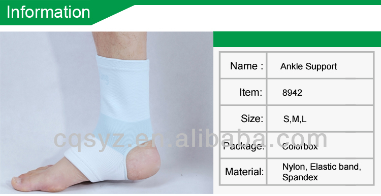Supplying Blue Color Nylon Elasticated Ankle Support