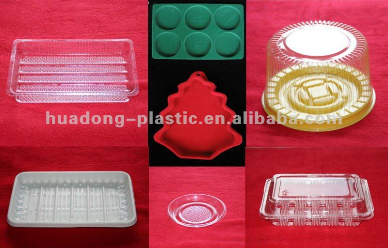 Plastic cake bread biscuit box container at low price