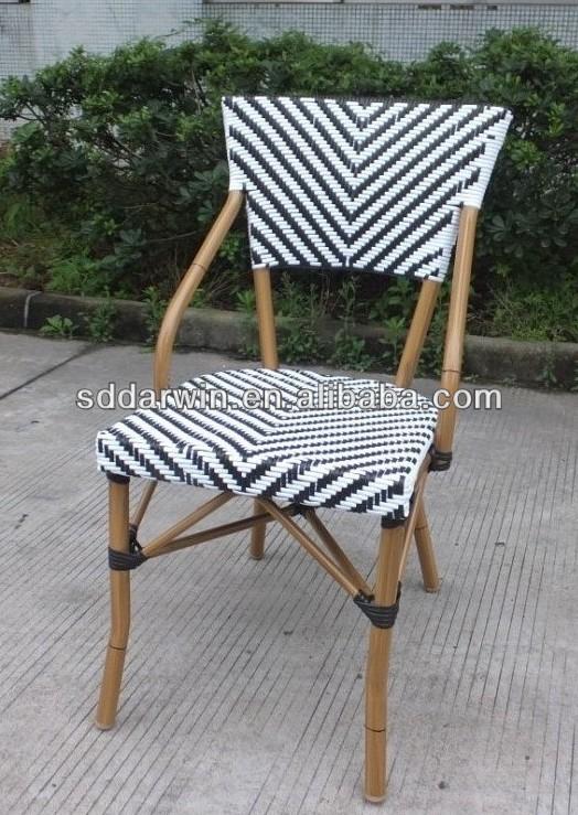 Costco furniture bamboo look aluminium outdoor chair(DW-BC029)