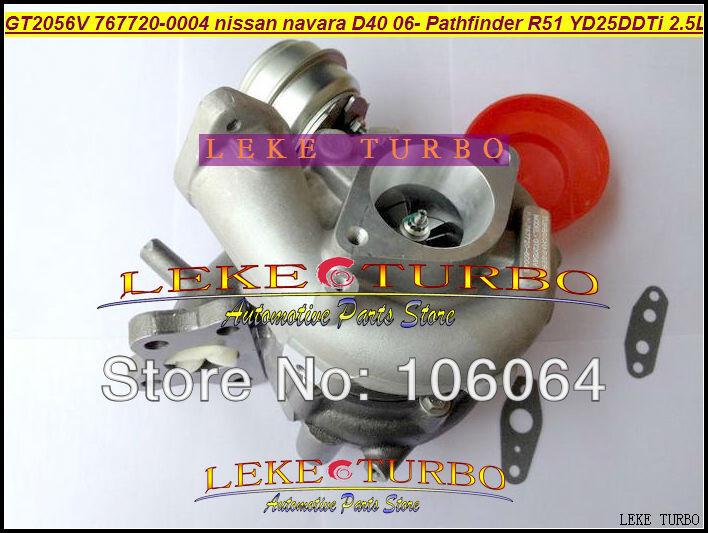 GT2056V 767720-0004 14411-EB70A 14411-EB70B Turbo For NISSAN Navara D40 2006- Pathfinder R51 YD25 YD25DDTi 2.5L turbocharger (2)