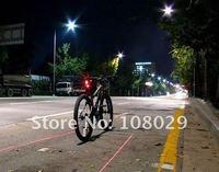 Фара для велосипеда 3 Highlight Red LED 2 Laser bicycle light set laser safety light