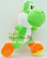 "Free Shipping 20pcs/lot NEW Super Mario Plush Doll Figure green 8"" running yoshi plush toy  super mario toys"