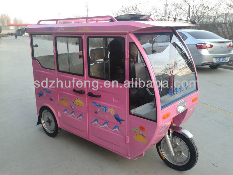 three wheeler electric tricycle to use for short distance taxi