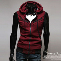 Мужской жилет Fashionable Men's Sleeveless Hoody Vest Asian Size M L XL XXL