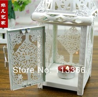 подсвечник European Moroccan style Household Hurricane Lamp, Hanging, Wrought Iron Hollow Out Candlestick Storm Lantern, Get Married