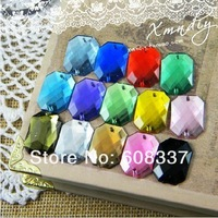 Стразы для одежды 96pcs/lot, 13*18mm Mixed Color Fashion Flat Back sew-on acrylic rhinestone, Garment Accessory