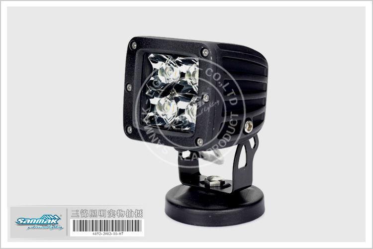 "3"" 12W Square CREE Motor bicycle van Road ATV SUV LED Work Light SM6125L"