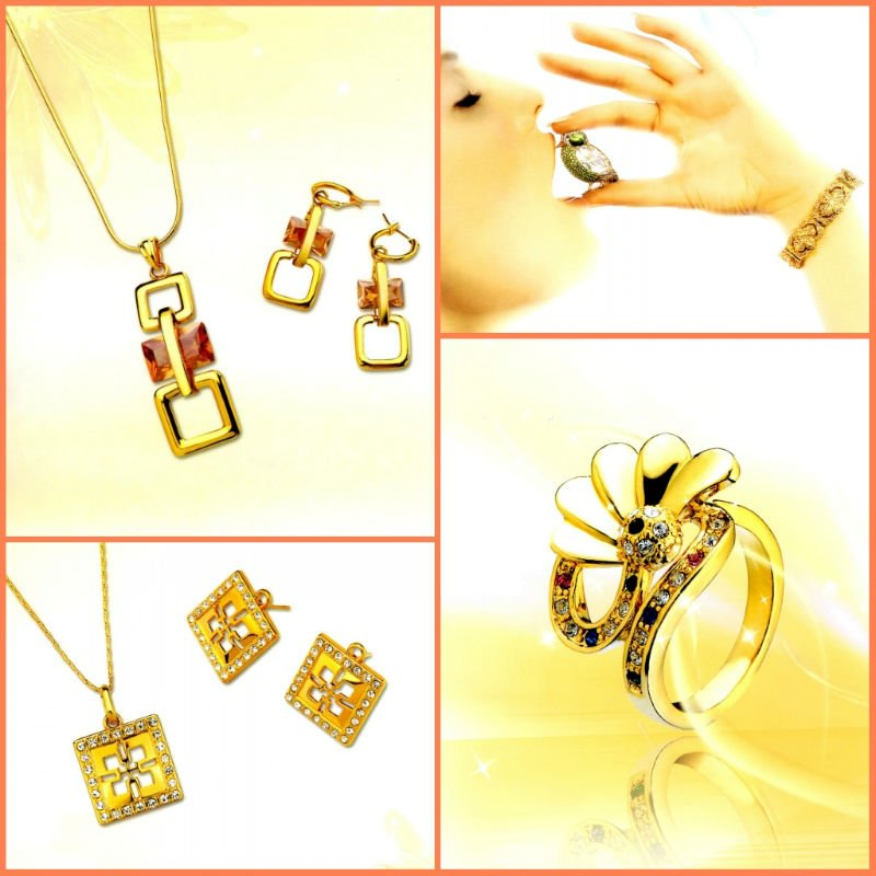 Fashion 18K Gold Plating Jewelry Set  F1120610 .20