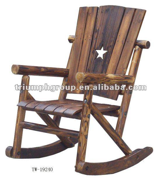 Eddie Bauer High Chairs Wooden Rocking Chair Outdoor Rocking chair,outdoor