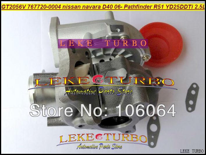 GT2056V 767720-0004 14411-EB70A 14411-EB70B Turbo For NISSAN Navara D40 2006- Pathfinder R51 YD25 YD25DDTi 2.5L turbocharger (3)