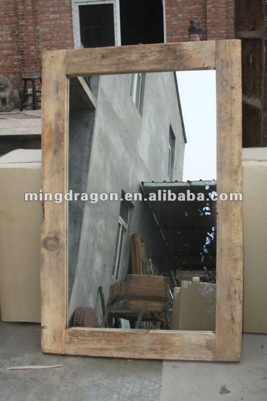 Miroir bois flotte ikea for Miroir rustique