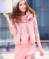 Женские толстовки и Кофты 2012 ladies Hoodie sports Coat /Three-piece thickening of the sweater/jacket/leisure suit2025