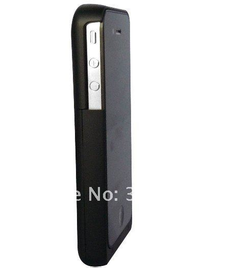Free shipping 1900mAh Rechargeable Mobile Power Pack Bank Portable Charger External Backup Battery Case For Iphone 4 4G 4S