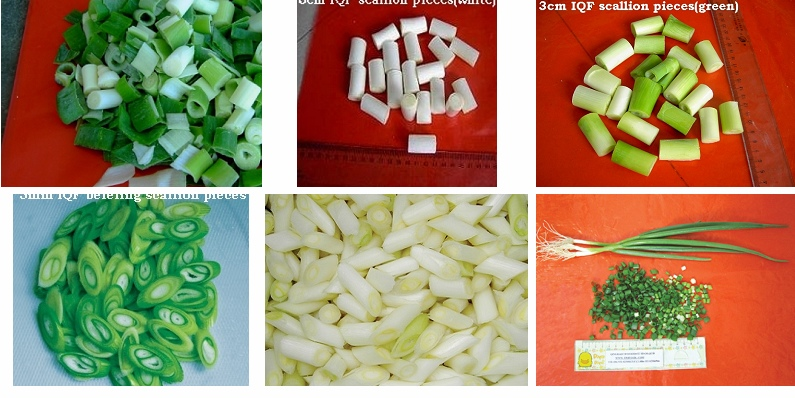 Frozen Scallion section food