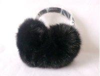 Женские наушники для защиты от холода Genuine Fox Fur Earcap warm fashion accessory lovely flocky earmuffs/Hot Sale TF018