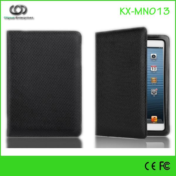 Black PU Ultrathin casual series stand cover for ipad mini 2 stand flip case for ipad mini