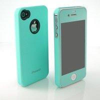 Чехол для для мобильных телефонов Premium Mint Matte Screen + Mint Ultra Thin Hard case cover for iphone 4 4S 4G