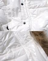 капюшон из меха aromise вниз женщин жакет белый