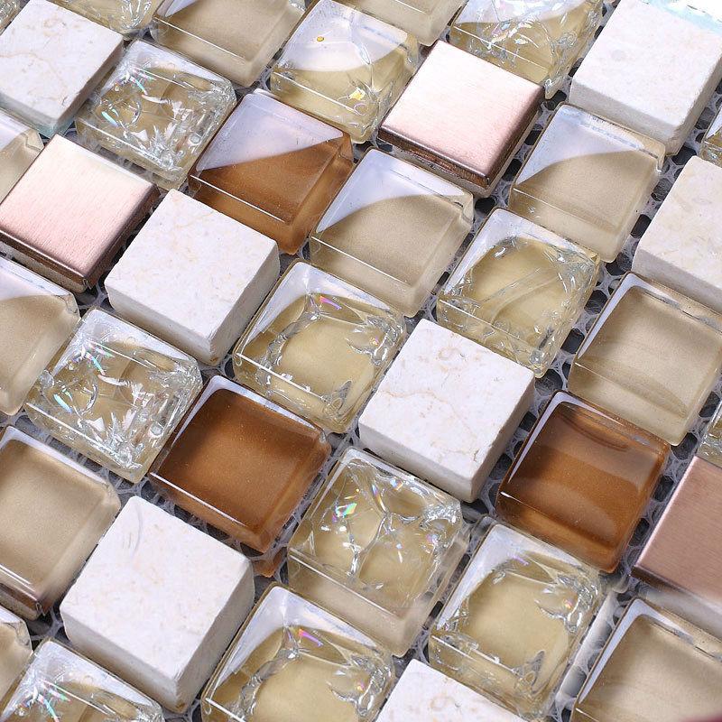 Baldosa Para Baño Corona: de la mezcla mármol pegatinas de pared baño azulejos en Mosaicos de