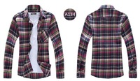 Free shipping 2013 New Men Shirt Autumn Long-sleeve Fashion Casual Shirt Big  pattern design Top Quality 115
