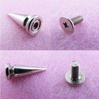 20Pcs 25mm Cone Metal Spikes Studs Bag Bracelet Rock Shoes Bangle Biker Rivet[99087]