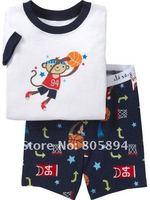 2012 Baby Pajamas Children's Pajamas Kids Pajamas Boys Pajamas Short Pyjamas 6SETS/LOT Free Shipping 8141 white monkey