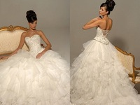 Свадебное платье new fashion style organza sweetheart princess ball gown wedding gown