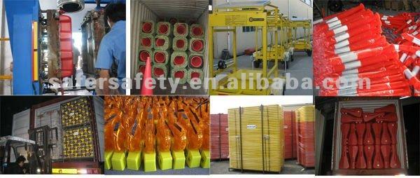 Plastic bollard rubber base spring bollards
