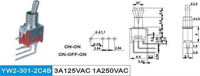 Sous miniature interrupteur bascule interrupteurs for Bascule transistor