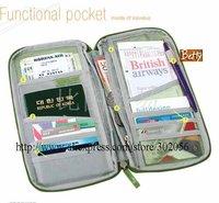 MOQ 1PCS Free shipping  New Travel Passport Credit ID Card Cash Holder Organizer Wallet Purse Case Bag H016p
