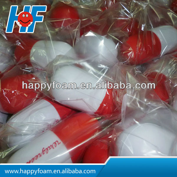 hot sale capsule pill stress with logo