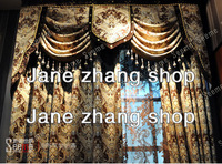 Jane zhang shop chenille jacquard European curtain fabric luxury atmosphere living room, bedroom curtains special marriage room