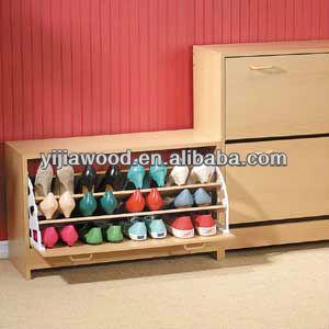Design moderne meubles de maison en bois chaussures rack for Meuble alibaba montreal