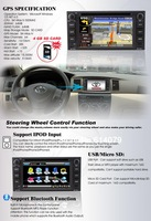 GPS навигатор Custom Car DVD Player GPS Radio System with 6.2& 39 HD Touch Screen For Toyota E8281