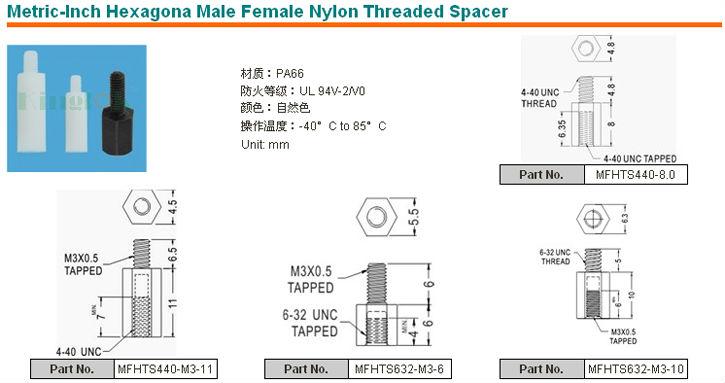 Metric-Inch Hexagona Male Female Nylon Threaded Spacer -3.jpg