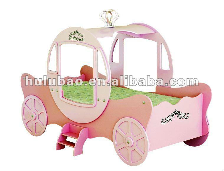 Nouveau design rose moderne enfant de voiture lit lit de - Lit voiture princesse ...
