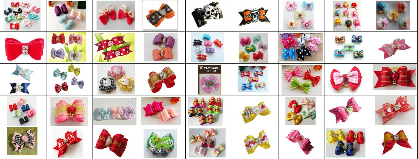 Wholesale Pet Supplies Product Handmade Dog Accessories Hair Clips Bows Doggie Boutique Mixed Items Fashion Hot Sale 300PCS/LOT