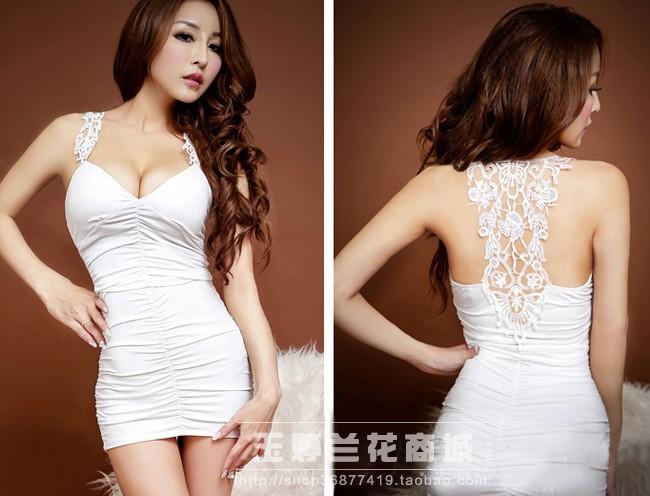 Женские ночные сорочки и Рубашки Summer belt pad push up women's sexy sleepwear silk slim hip leopard print lace spaghetti strap nightgown BW002