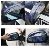 5pairs/lot  Car Rain Shield Flexible Rubber Car Rearview mirror Rain Shade .Shower Blocker Cover Sun Visor Shade