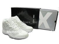 Free Shipping Wholesale XI 11 Retro Space Jams Men's Basketball Sport Footwear Sneaker Shoes - White / Black / Purple
