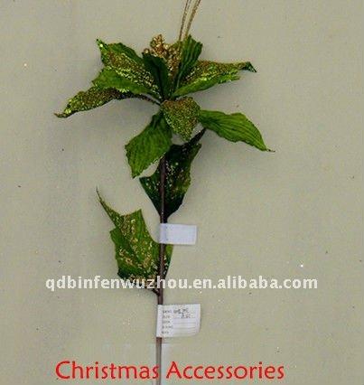 champn artesanas flores de tela para la decoracin del rbol with flores de navidad en tela