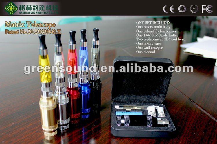 Greensound patent ego vv mod e-cig with 14430/14500/14650 battery e-cig