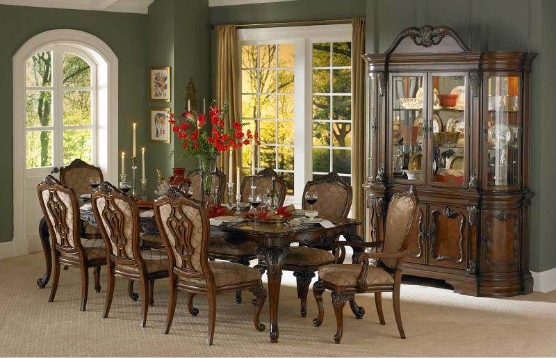 Tradicional muebles de comedor, antiguos de madera juego de ...