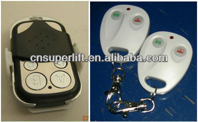 Remote control electric garage door opener